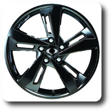 Korando light alloy wheel 18 inch BLACK
