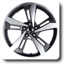 Korando light alloy wheel 18 inch SILVER